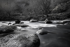 Smooth Waters (Amy Louise Moore) Tags: camera bw white holiday black water beautiful contrast rural river grey countryside waterfall big scenery rocks stream long exposure fuji 10 smooth system stop devon filter lee fujifilm sultry milky dartmoor lanscape compact csc tonal stopper mirrorless xpro1