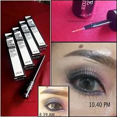 ขายน้ำยาเคลือบคิ้ว และ eye makeup ที่ช่วยให้คิ้วติดทนนาน ขอบตาสีแน่นเป๊ะ ยาวนาน อย่างน้อย 10 ชม. ราคาชิ้นละ 200 บาท  LUXE EYE-FIXER Long lasting Your eye makeup will stay longer and stronger with this fixer.  ตัวนี้เป็นน้ำยาใสใส ใช้ทาเคลือบคิ้ว และ ขอบตาล