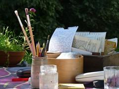 Lovely creative weekend with my friend Marike 1 (LaWendeltreppe) Tags: art stamps journal marike