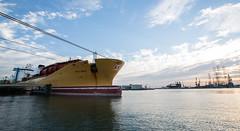 Stolt Effort (Remco Ophof) Tags: sunset cloud weather port rotterdam rig effort tanker drill chemical stolt botlek