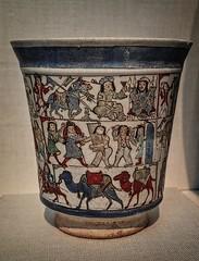 Ceramic beaker depicting the tale of the lovers Bizhan and Manizha from the Persian epic Shahnama Iran early 13th century CE (mharrsch) Tags: ceramic washingtondc smithsonian persian iran epic beaker freergallery shahnama 13thcenturyce mharrsch nationalmuseumofasianart