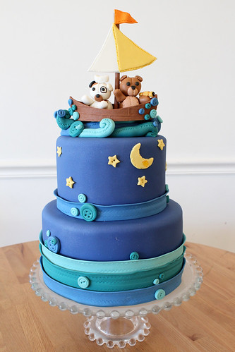 Stuffed Animal Sailing Custom Cake