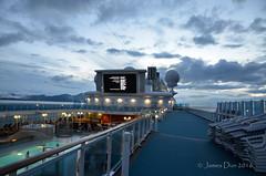 Rooftop Movie (James Dun) Tags: cruise pool movie alaska princess cold glacier bay national park united states nikond7000 inside passage