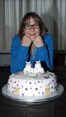 Sonia and her Moomin cake 02 (bob watt) Tags: cake moomins nottingham england uk december 2016 home puddingpantry canoneos7d 7d 18135mm sonia canon