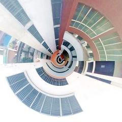 Tiny Planet : AUST (ainulislam) Tags: outdoor circle building lights architecture dhaka dhakagram dhakagraam 360 photoshop tinyplanet tinyworld photostitching