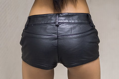 leather shorts feel good (sexy kutinghk) Tags: sexy filipina beauty petite beautiful asian tiny babe portrait slim figure fit perfect fucktoy slut horny hot stunning model girl woman sexiest