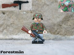 German Prinz Eugen volunteer soldier with MP 41 (Forestmän) Tags: lego mp 41 wwii soldier ss custom painted brickarms ww2