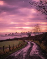 Sunset Mist (Augmented Reality Images (Getty Contributor)) Tags: canon clouds countryside farm landscape leefilters longexposure mist nature perthshire scotland sunset track trees winter