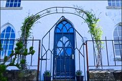 Blue Gothic (violetchicken977) Tags: frontdoortuesday bluedoor gothic
