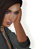 Thinking about (alidamor.anatra) Tags: sl secondlife portrait woman digital near focus zoom brown catwa pouderpack