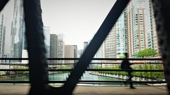 Lower Level Bridge (michael.veltman) Tags: chicago illinois river bridge from a cab figure structure buildings