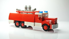 The Fire Truck Tatra 148 (MOC) (hajdekr) Tags: lego small simple easy truck firetruck red microscale microspace car vehicle automobile toy moc myowncreation creation tatra 148 howto manual tuto tutorial microfig figure microfigure