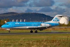 PH-KZL 04 (GH@BHD) Tags: phkzl fokker f70 klm kl klmcityhopper royaldutchairlines bhd egac belfastcityairport airliner aircraft aviation