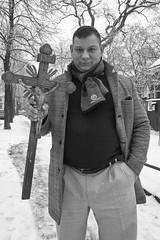 Prep (österreich_ungern) Tags: winter berlin portrait kruzifix kreuz cross holy black white rixdorf schmiede christian repair arm brohen neukölln germany inri