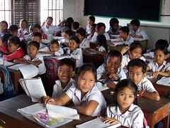 Classroom, Phnom Penh (bindubaba) Tags: cambodia phnompenh school students children