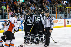 "Missouri Mavericks vs. Utah Grizzlies, December 28, 2016, Silverstein Eye Centers Arena, Independence, Missouri.  Photo: John Howe / Howe Creative Photography • <a style=""font-size:0.8em;"" href=""http://www.flickr.com/photos/134016632@N02/31924390736/"" target=""_blank"">View on Flickr</a>"