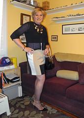 Yes a G Man fan (krislagreen) Tags: tg tgirl transgender transvestite cd crossdress dress hose cardi pumps patent purse femme feminaized feminization feminine
