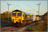 66502, 4M93 (Jason 87030) Tags: 4m93 shed class66 freightliner 66502 2010 northants northamptonshire yingying september cargo containers frecht boxex tren engine loco gm railways light evening