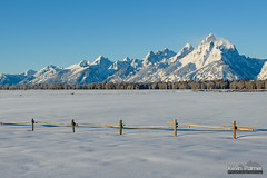Elk Ranch Flats Winter (kevin-palmer) Tags: grandtetonnationalpark nationalpark wyoming moran december newyearseve winter cold snowy snow white clear sunny sunshine blue sky grandteton elkranchflats fence nikond750 tamron2470mmf28 frigid
