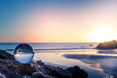 Still (garethleethomas) Tags: crystalball glass glassball contrast coast shore shoreline beach sunset sun pembrokeshire wales calm still canon outdoor