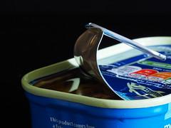 Mackerel - Yummy (Smiffy'37) Tags: macromondayitsapeelingtome stilllife tin mackerel closeup macro blue object