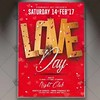Love Day – Premium Flyer PSD Template (psdmarket) Tags: event flyer invitation loveday nightparty nightclub party valentine valentines valentinesday valentinesdayflyer valentinesdayparty