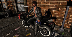 Post 017 (Gygue Parx) Tags: comesoonposes alter yack leatherjacket daniel damon bikerjeans adam aesthetic slink tmp shoes meshboots adriatic hudtextures swank event online