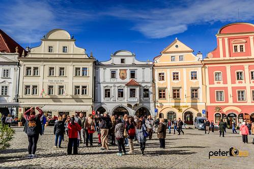 Cesky Krumlov Town Square in the Czech Republic