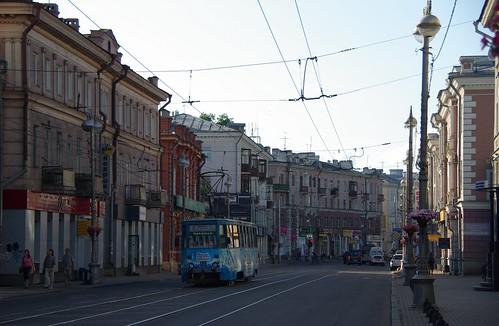 Irkutsk tram 71-605 180 city center ©  trolleway