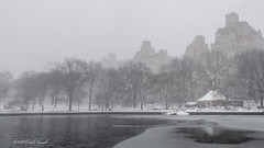 What a Difference a Day Makes (CVerwaal) Tags: centralpark sailboatpond snow winter olympusem5 lumixgvario1235f28