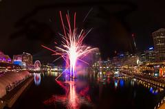 Vivid Sydney 2015 - Vivid Laser-Fountain Water Theatre (elpolodiablo) Tags: show fish eye water theatre pentax fireworks harbour sydney vivid fisheye da laser darling 1017 k5 iis 2015 laserfountain