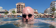 Blad selfee in the Aegeon sea. (CWhatPhotos) Tags: pictures camera blue sea portrait holiday man beach water sunglasses digital self turkey that photography seaside foto image artistic pics picture sunny pic olympus images shades have photographs photograph fotos round inthe tough which contain waterproof marmaris selfie selfies tg3 aegeon selfees cwhatphotos