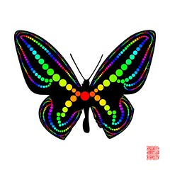 Butterfly Effect (Julleor) Tags: butterfly circle graphics packing vector generativeart xrvg julleor dots2art