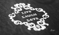 Live Laugh Love (M-M_Photo) Tags: life wedding blackandwhite white black texture love leather canon lens happy photography book photo engagement photographer live details picture marriage happiness quotes frame laugh ef lenses matrimony leatherbound livelaughlove 5d3 5diii
