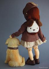 Good Puppy (Ebony Dragon) Tags: dog fauna puppy golden doll cookie retriever elf bjd hybrid fairyland ciaobella anotherspace bambicrony littlefee