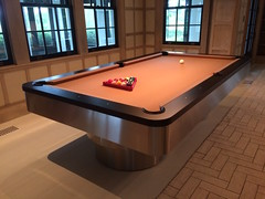 MIAMI Pool Table (Mitchell Exclusive Billiard Designs) Tags: pool steel tables pooltable stainless modernpooltable contemporarypooltable
