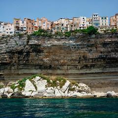 Bonifacio, Corsica (Gene Krasko Photography) Tags: sea square landscape town mediterranean corse corsica cliffs bonifacio corsedusud limestonecliffs