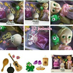 พร้อมส่ง เซต #ตุ๊กตาแอนิเมเตอร์ ราพันเซล สูง 16 นิ้ว -- #Rapunzel Doll Gift Set - #Disney #Animators' Collection นำเข้า Disney USA แท้   ราคาพิเศษ 2,490฿ +EMS 150-.  เรทส่งทัก @ Line id : leosonson