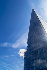 The Shard (Laura Grimsley Photographer) Tags: lighting blue sky london glass up architecture skyscraper natural bright britain british tall shard shardofglass theshard lauragrimsley