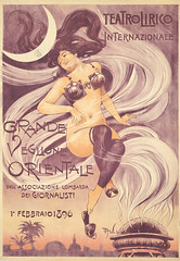Grande Veglione Orientale by Aleardo Villa, 1896 (Andrea Speziali) Tags: fashion bicycle poster parishilton women circus auction bikes artnouveau event american 1950s auctions british 1910s dragqueens 1890s madmen vintageposters smallpets 1930s1940s 1920s30s dondraper frenchvintageposters turnofthecenturyperformers