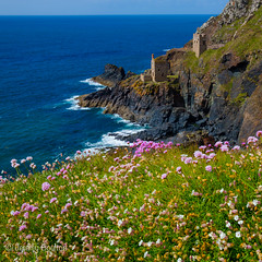 Botallack in Spring (JKmedia) Tags: old flowers blue houses sea west flower abandoned industry floral grass bluebells buildings square landscape tin spring ancient flora rocks cornwall industrial view horizon may engine rocky structure cliffs pump coastal thrift mines granite manmade coastline past derelict miners botallack seapink 2015 westcornwall 15challengeswinner n15c canoneos5dmkiii boultonphotography oldtinworkings