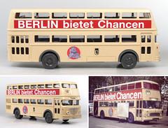 Wiking-Berlin bietet Chancen (adrianz toyz) Tags: wiking toy model berlin bus 187 scale berlinbietetchancen bssing germany plastic ho