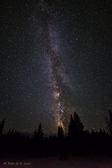 No light pollution whatsoever! (ScorpioOnSUP) Tags: canon themilkyway westthumb yellowstonenationalpark adventure astrophotography galaxy gorgeousnight landscape landscapephotography longexposure mountainrange nature night outdoors sky stars trees