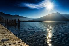 2016 Sun kisses Tegernsee (jeho75) Tags: sony ilce 7m2 zeiss deutschland germany bayern bavaria tegernsee sonne sun rays strahlen reflektionen reflections