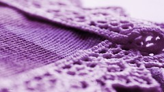 Corner - MM (Zsofia Nagy) Tags: macromondays corner lace handmade purple closeup tablecloth d3100 depthoffield dof week26 thecolourpurple texturetuesday texture macro 7daysofshooting flickrlounge weeklytheme pastelcolours