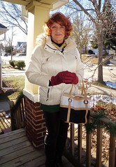 Winter Preparedness (Laurette Victoria) Tags: winter wisconsin leggings gloves coat laurette auburn milwaukee woman