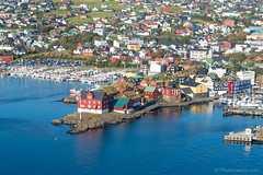 Helicopter ride - Torshavn's Parliament (Photocedric) Tags: faroe danmark torshavn islands water denmark city september sea iles helicopter island dk ocean europe feroe danemark nólsoy faroeislands fo