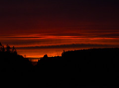 "Black`n red sunset (Vidar ""the Viking"" Ringstad, Norway) Tags: winter cold sunset dark sky black red evening nightshot trees hill himmel heaven horizon home nature naturepic natureshot clouds canoneos5dmkiii skedsmokorset skedsmo holtvestvollen norge norway norwegen silouettes"