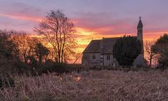 Christmas Dawn (jactoll) Tags: weethley warwickshire dawn sunrise church stjames christmas morning light landscape sony a7ii zeiss 1635mmf4