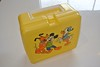 1980s Mickey Mouse and Donald Duck Lunch Box (jadedoz) Tags: yellow plastic lunchbox disney donald duck mickey mouse 80s 1980s taiwan lunch box school thermos